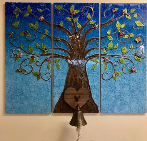 Spring Tree of Life Bell Mosaic