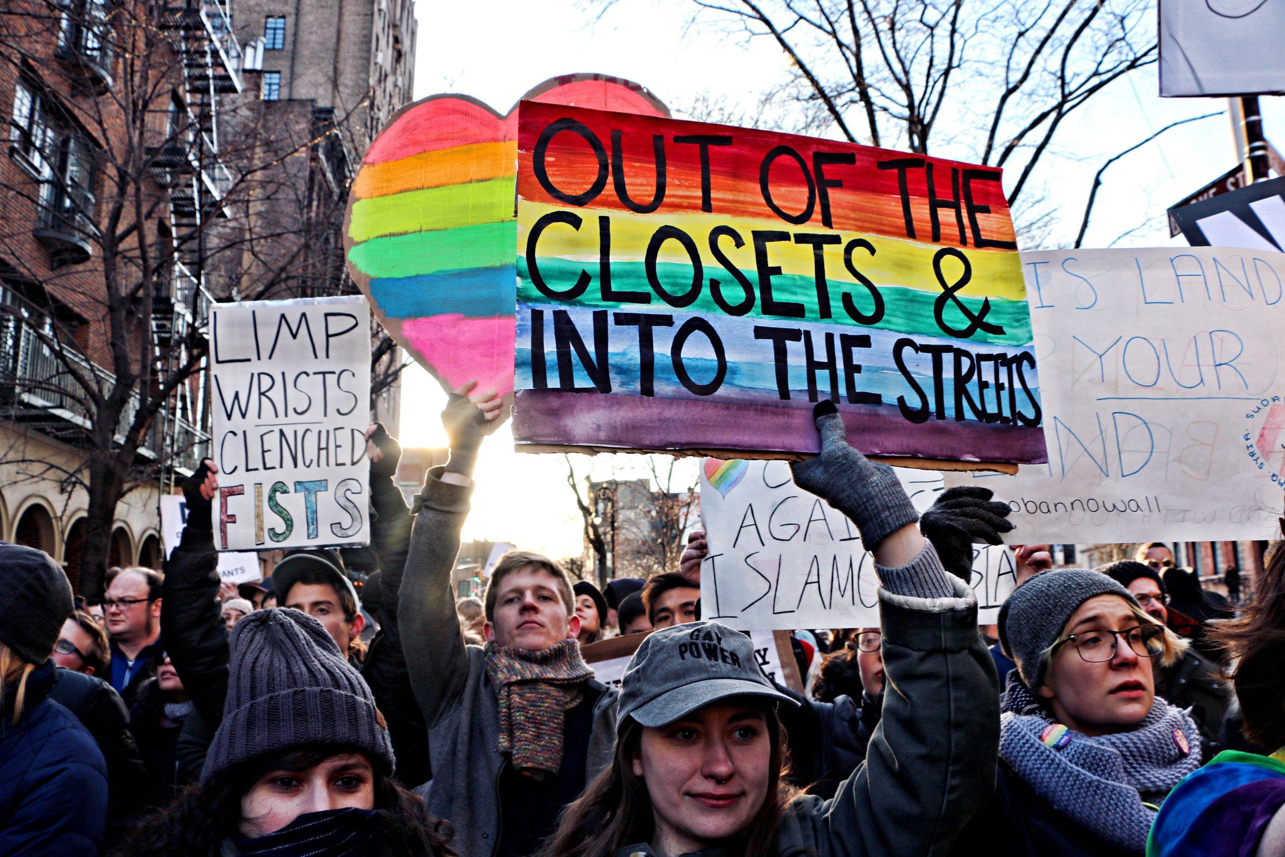 Historic Stonewall LGBTQ Rally, Stonewall Inn, February 4th, 2017