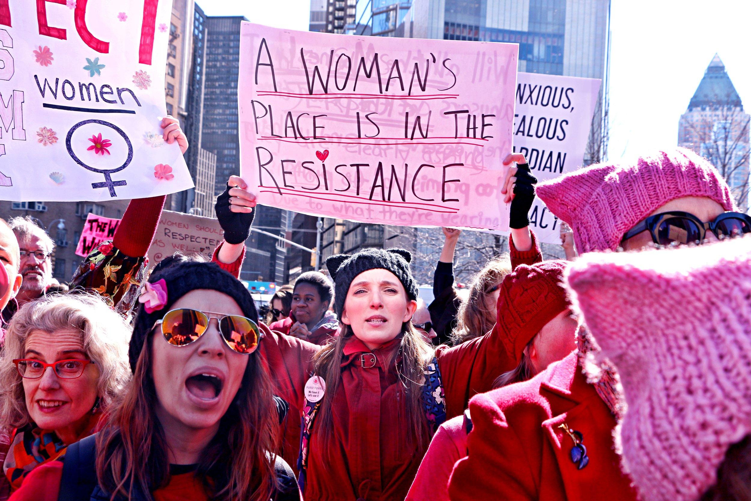 International Women's Day. New York City.March 8th, 2017