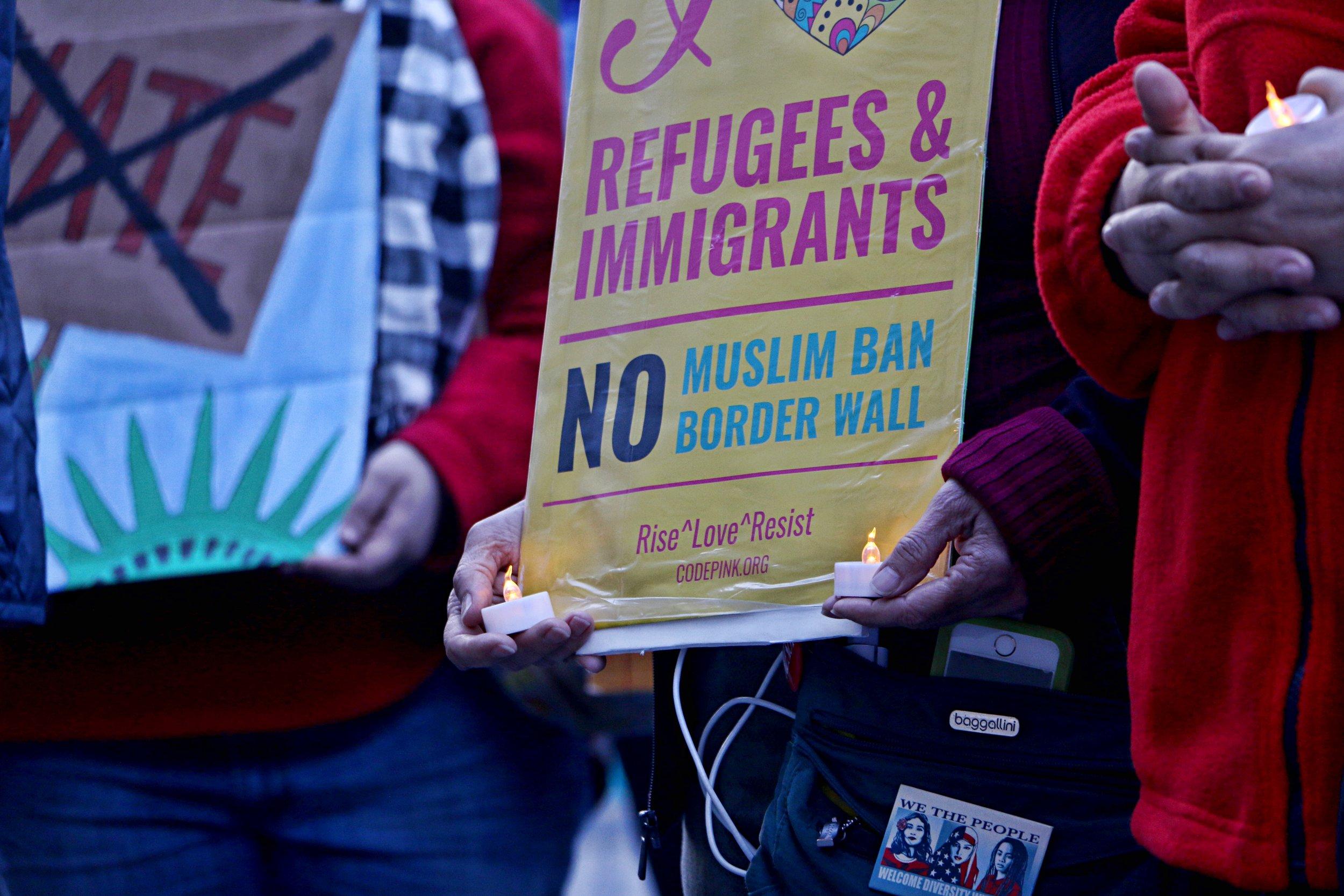 Amnesty International: Candle Vigil. New York City. April 9th, 2017