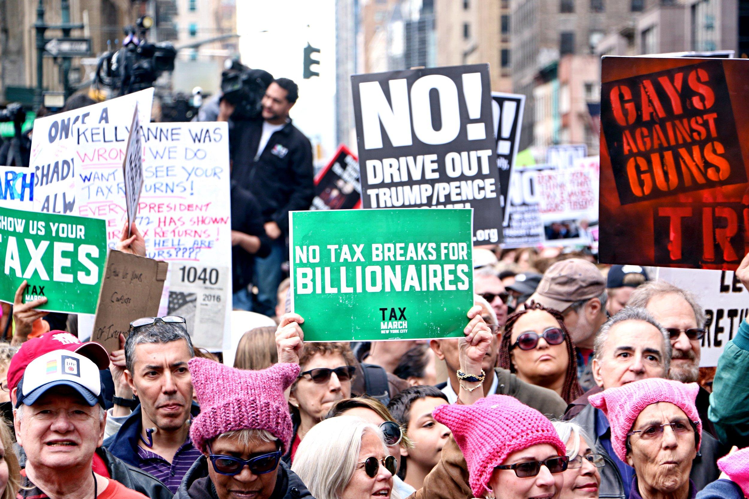 Tax March. April 15th, 2017. New York City