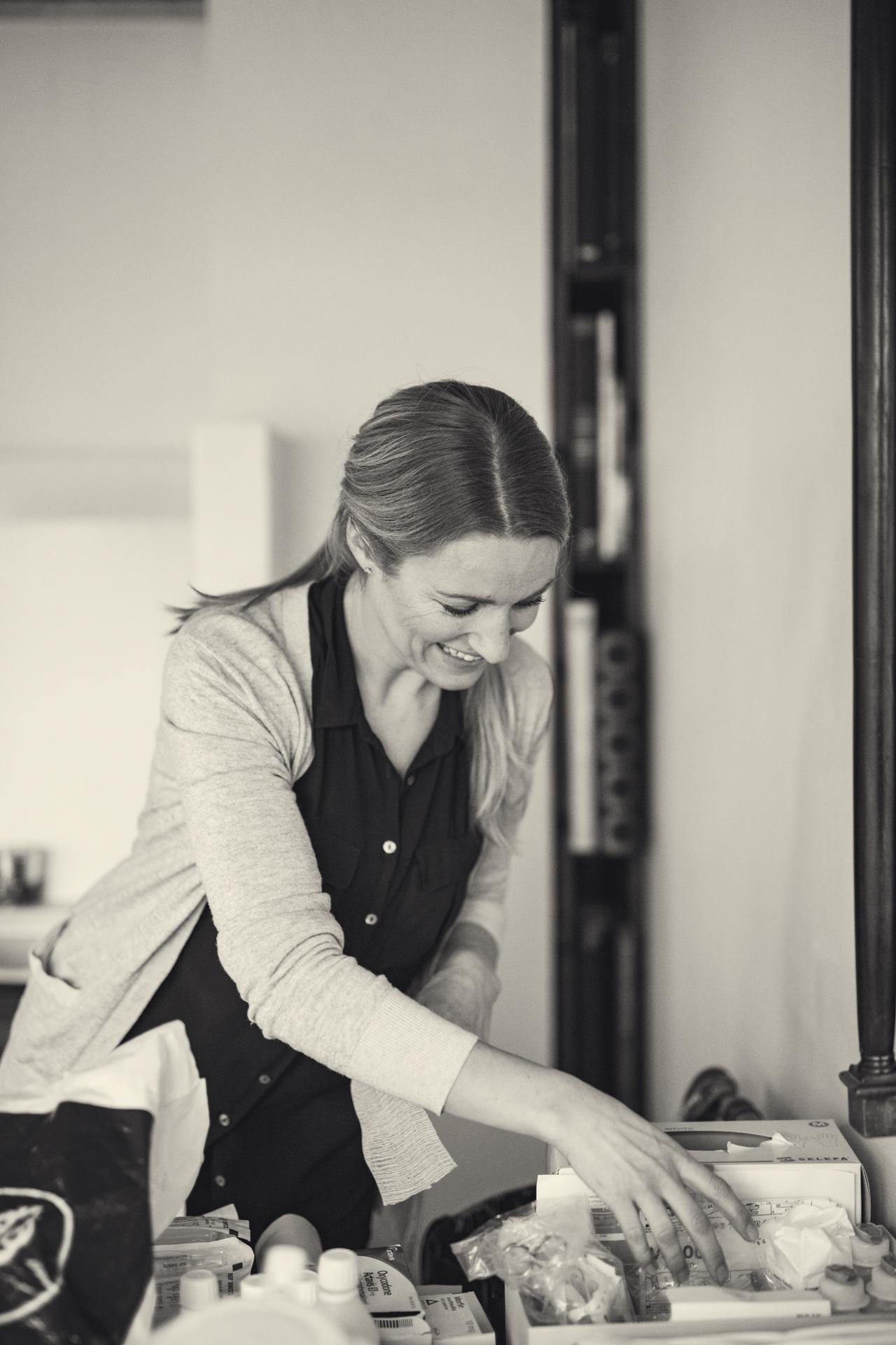 Sykepleier Anne Kristine på jobb
