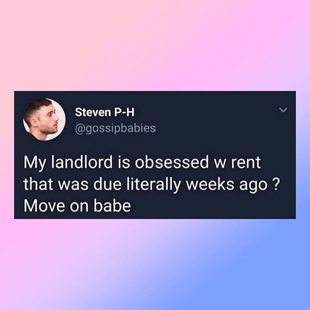 LOL. 😂😂 I'm conflicted. The 1st of the month means.... new Palm Picks 😍... but rent rent is due 😕 ••••••• Credit: gossipbabies