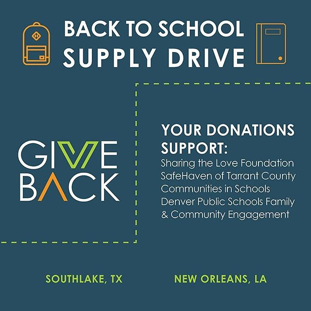 We're kicking off our #BackToSchool Supply Drive! Check out the supply lists (swipe 👉) and drop off your supplies in our office locations in Southlake, TX or New Orleans.  Donations support: @stlforney, @safehaventc, @communitiesinschools #CISGulfSouth and DPS Family and Community Engagement.  We appreciate any support we get! Please message us for more information on how to donate  #VerdadRealEstate #VerticalCM #GiveBack