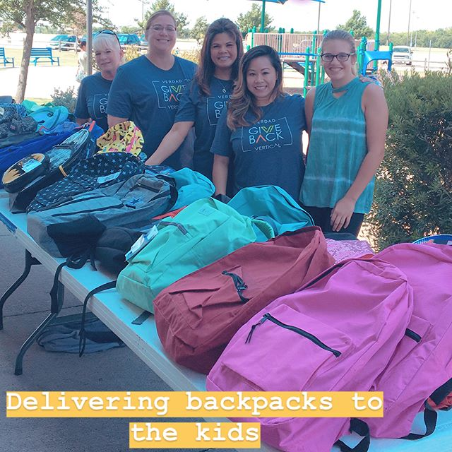 Today our GiveBack team delivered backpacks to all the kids at Sharing The Love Foundation - Youth Can Summer Camp! Seeing the smile on the children's faces: priceless ☺️ Thank you to all our partners that help make this happen. #GiveBack #backtoschoolbackpacks #verdadrealestate #verticalconstructionmanagement