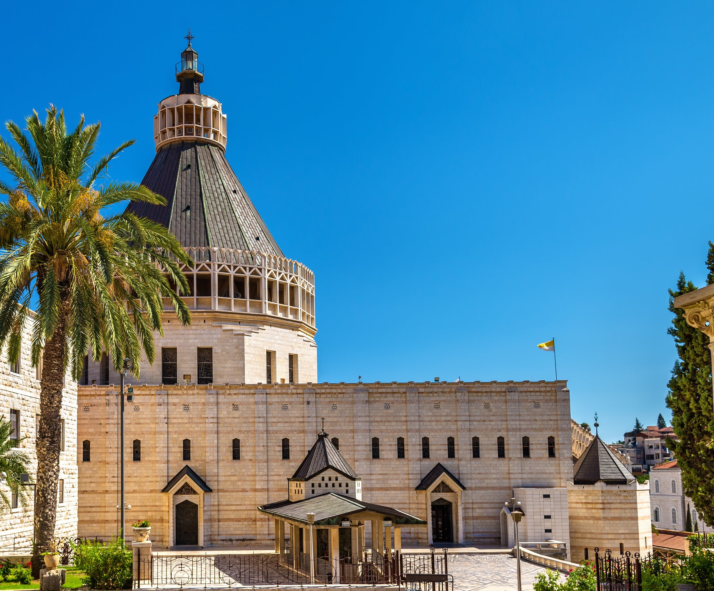 The Basilica of the Annunciation in Nazareth is built on the site traditionally understood to be the home of Mary. It is just one of many places you will visit on the Holy Land Pilgrimage.