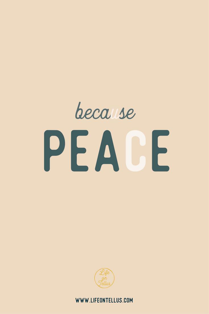 blog because peace