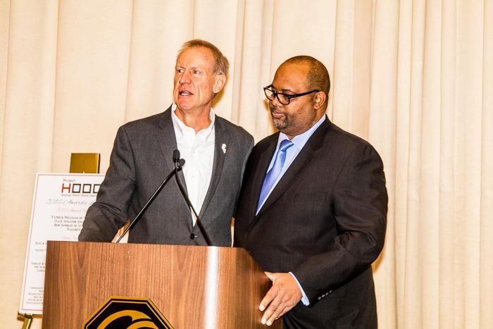Governor Bruce Rauner and Executive Director Corey Brooks