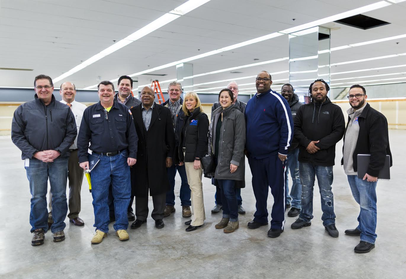 Representatives from ProjectHOOD, Manhattan Mechanical Services, Associated Builders and Contractors, Citgo and Metro Ford