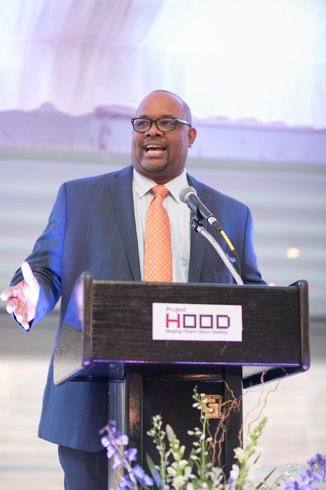 Pastor Corey B. Brooks, Executive Director of Project H.O.O.D. states accomplishments, work and goals of Project H.O.O.D. and new programming for the Leadership and Economic Opportunity Center.