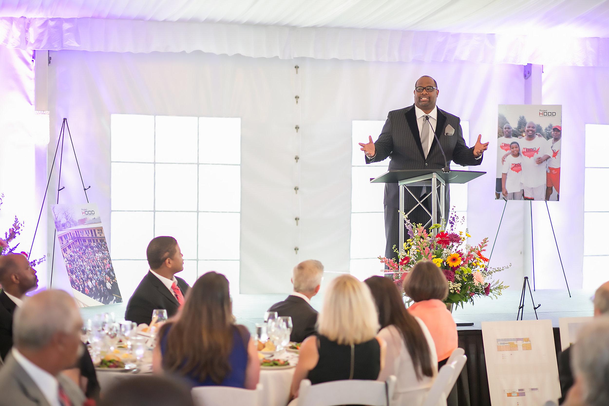 Pastor Corey B. Brooks, Executive Director of Project H.O.O.D.