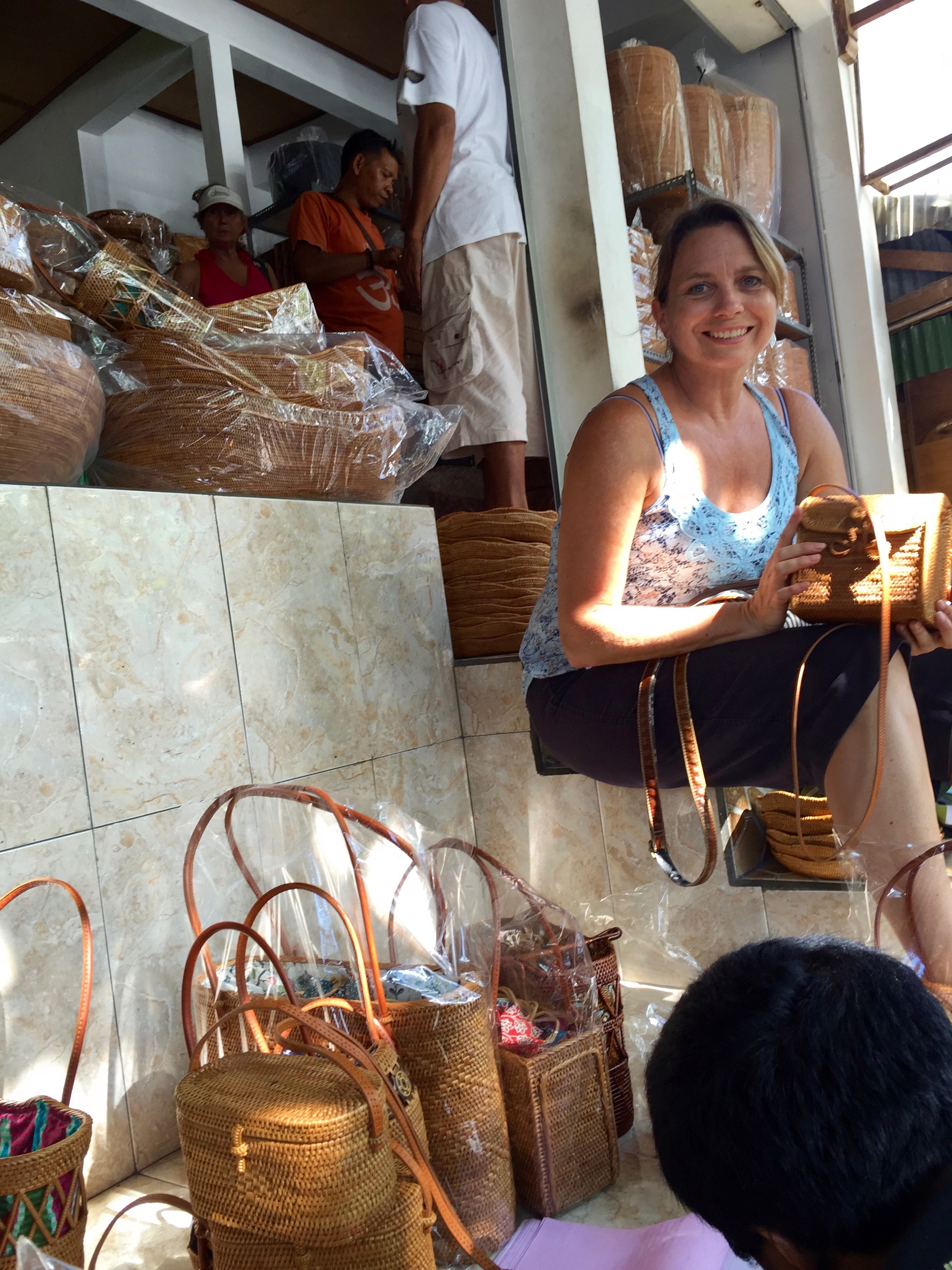 Shopping for handmade basket purses