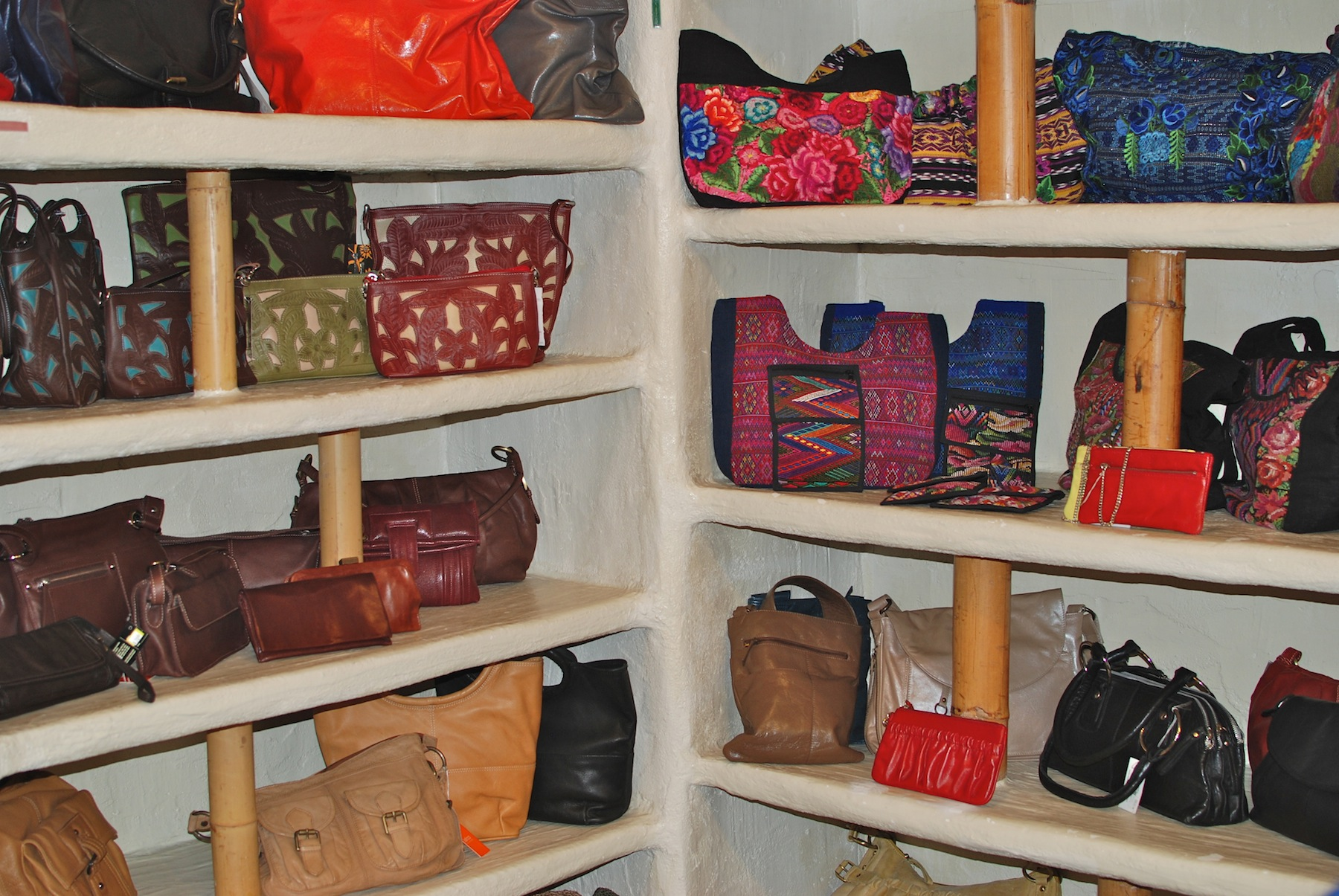 Handbags and purses in all shapes and sizes.