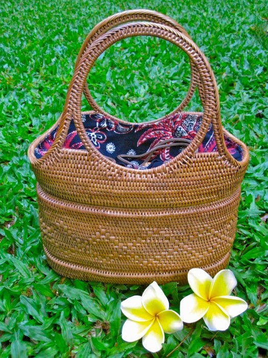 Hand crafted basket purses from Bali.