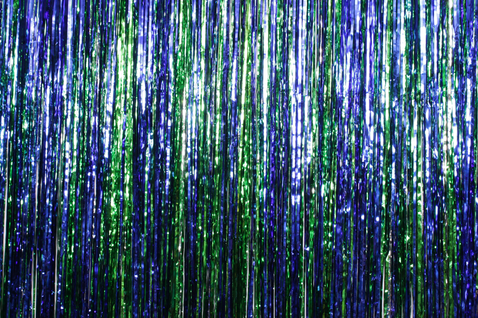 Blue, Green, Silver Tinsel*