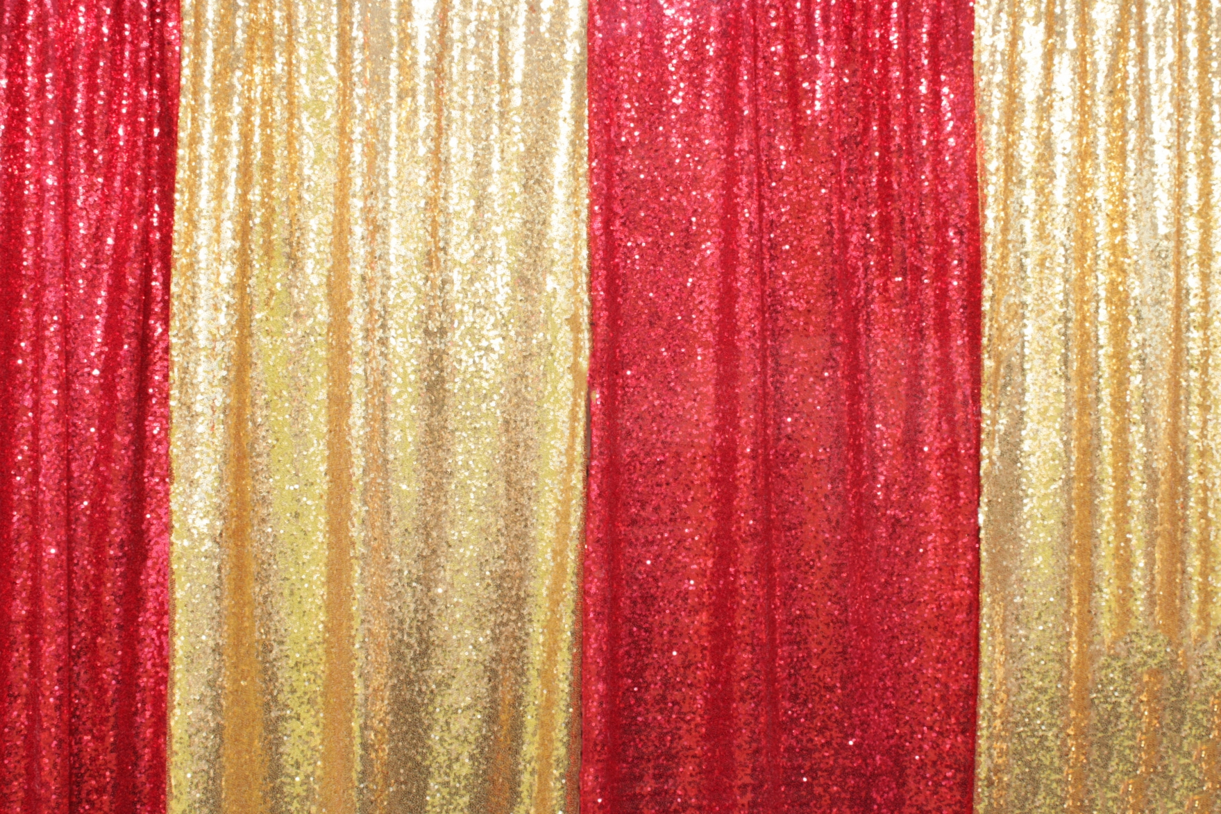 Red & Gold Sequin Panels