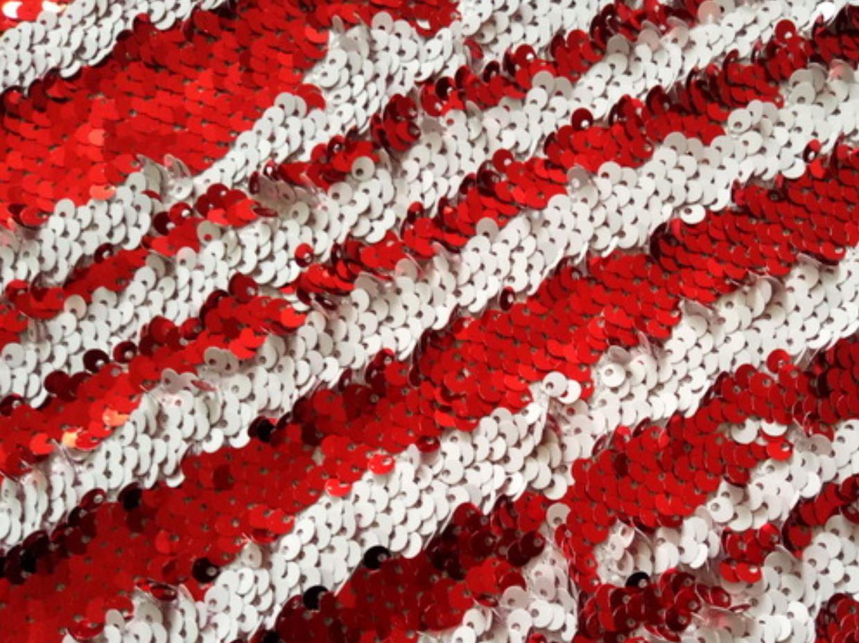**Red White Multi-Sparkle  8' x 8'