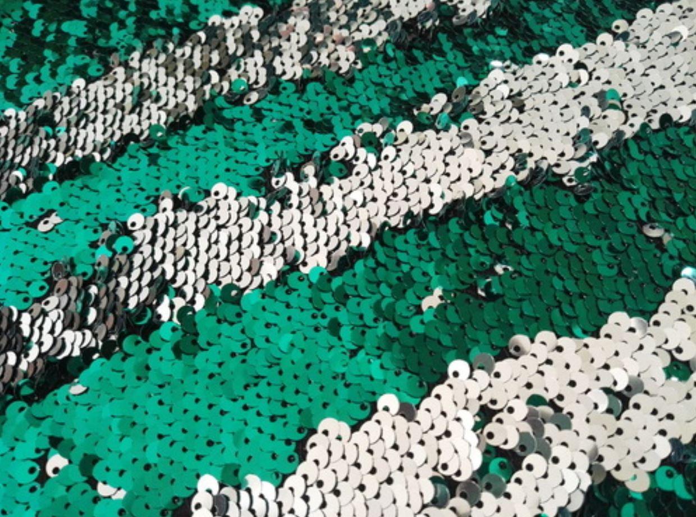 **Green Silver Multi-Sparkle  8' x  8'