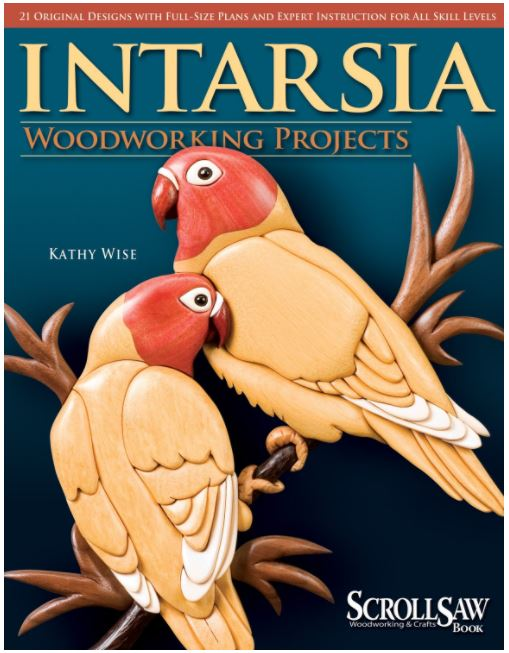 Intarsia Woodworking Projects: 21 Original Designs with Full-Size Plans and Expert Instruction for All Skill Levels by Kathy Wise  21 full-size patterns ranging from beginner to expert. Includes step-by-step tutorial to get you started with in depth information on shaping.