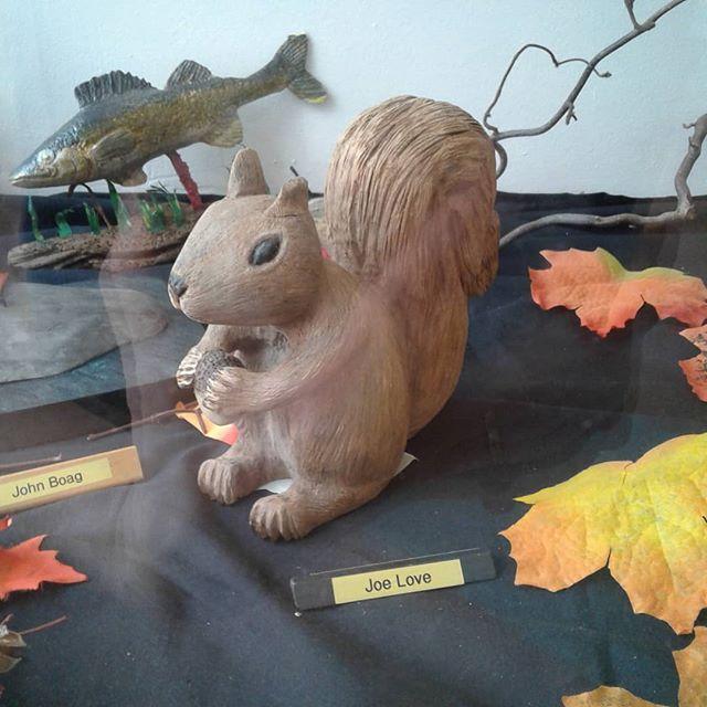 By Joe Love. In the Sculptors and Woodcarvers display case in the Art Gallery of Burlington @artgallburl  #woodcarversandsculptors #agblife #ArtsBurl #artsburlington