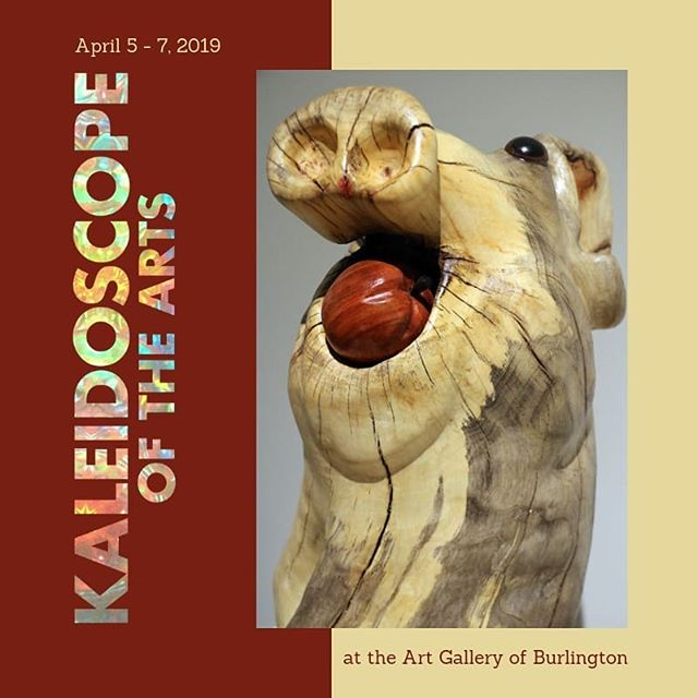Kaleidoscope of the Arts is coming this April. All 7 guilds at the Art Gallery of Burlington will be showcasing their art and crafts. We'll be having our sale as well as several hands-on activities for the general public -- young and old. We look forward to seeing you! #kaleidoscope2019 #artsburl #agblife @artsburlington @artgallburl  Work shown here is by Lou Chenier. #louchenier #woodcarvers #sculptors #burlingtonwoodcarvers #burlon