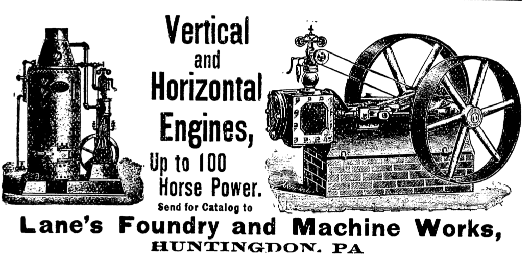Lane Foundry & Machine Works - Local business occupying some of our facilities space circa 1890.