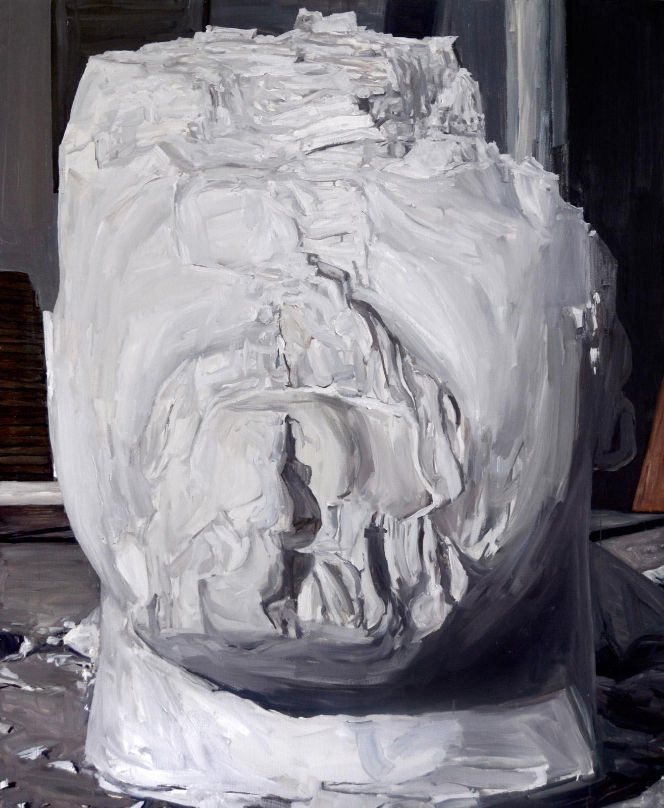 Gesso, 2014/óleo sobre tela/160x130 cm_