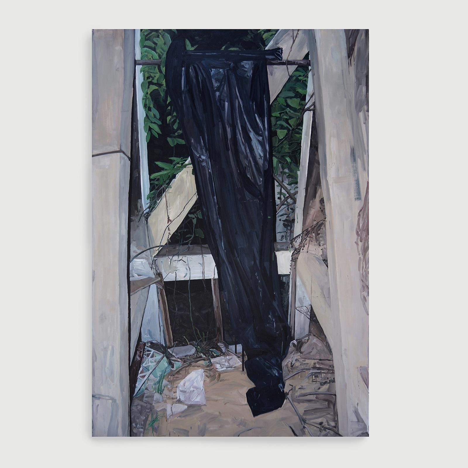 subsolo , 2014  óleo sobre tela  297 x 195 cm