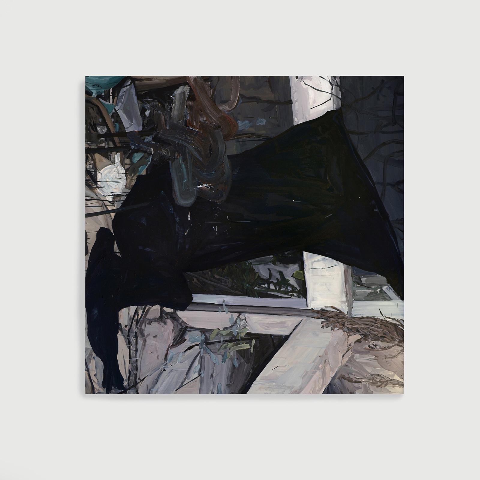 morcego , 2014  óleo sobre tela  140 x 140 cm