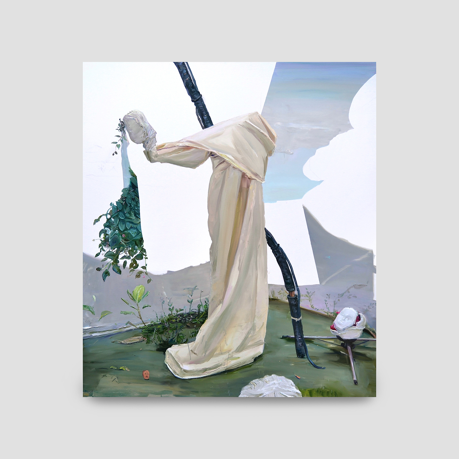anjo,  2018  óleo sobre tela  168 x 147 cm