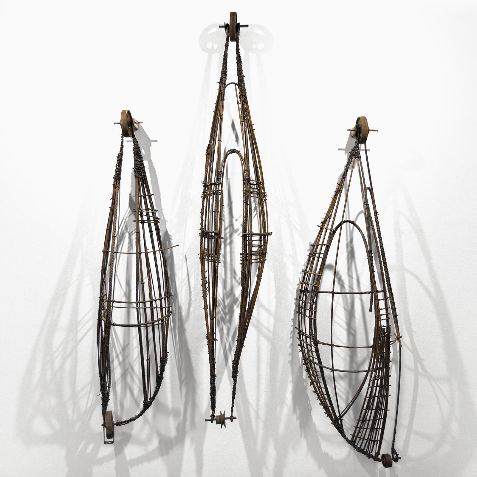sem título - série cestas,  2018  ferro  175 x 155 x 30 cm