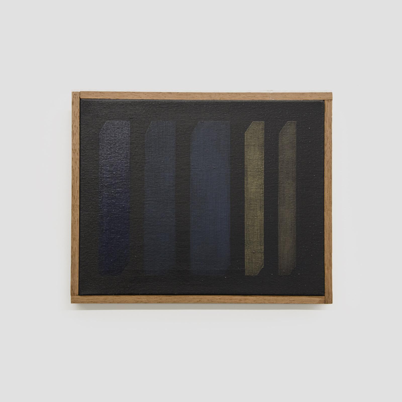 intervalos nº20,  2019  óleo sobre tela e madeira  26 x 32 cm