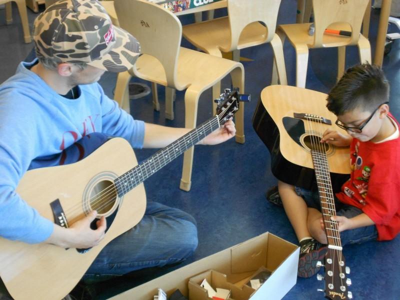 June 2011 Instrument Donation & Visit with Evan T