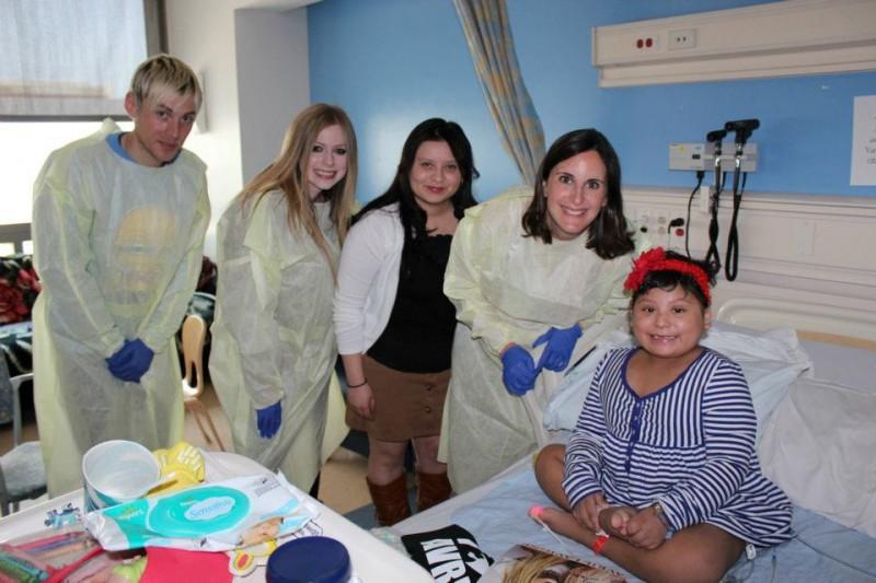 April 2011 Mattel Children's Hospital visit with Avril & Evan