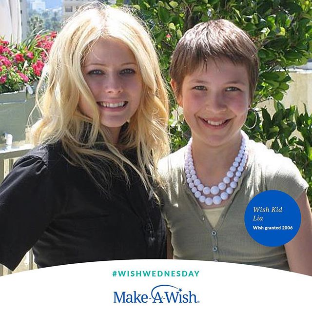 @makeawishamerica is a partner of @TheAvrilLavigneFoundation & we have seen the incredible life-changing impact of a wish come true. For so many kids, like Lia (pictured with @AvrilLavigne) a wish-come-true can give them the emotional and physical strength to keep going–to fight harder against their illness. And, it can help families focus on the possibilities of tomorrow and not on the challenges of today. Because where there's a wish, there's a way. ⭐ This #WishWednesday, join us in giving kids the ability to see that the impossible is possible by sharing this post or donating. Learn more at wish.org/worldwishday