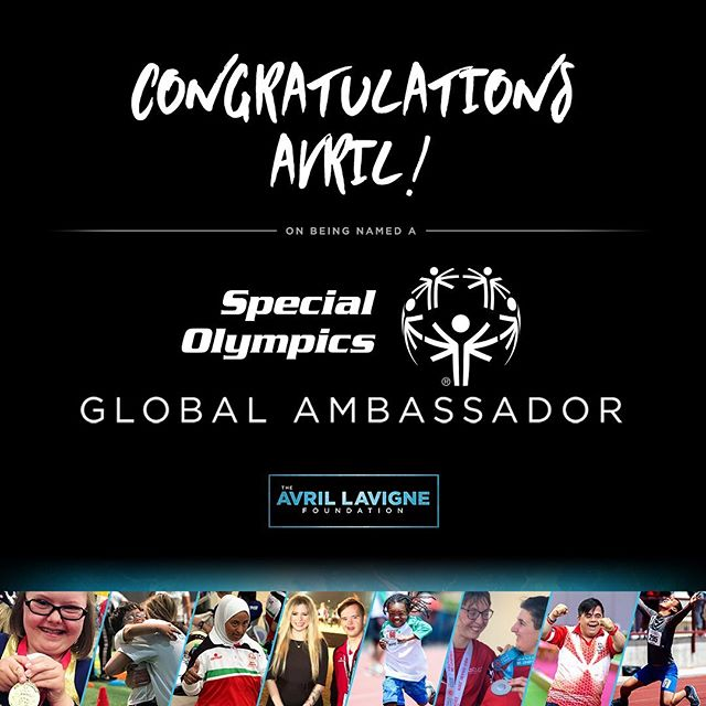 So honored to share that @avrillavigne has been named to the inspiring coalition of @specialolympics Global Ambassadors. We're proud to join her in support of the #InclusionRevolution. Visit www.TheAvrilLavigneFoundation.org/SpecialOlympics to learn more. #SpecialOlympics #FightLyme #ChooseToInclude #HealthyAthletes #UnifiedGeneration #LymeIsReal *** Via @specialolympics  BREAKING: We are proud to announce that 2x World Games performer & award winning artist Avril Lavigne has officially joined our team as a Global Ambassador! See why our movement is a perfect fit for her ➡️ http://bit.ly/2XLMs21 #InclusionRevolution
