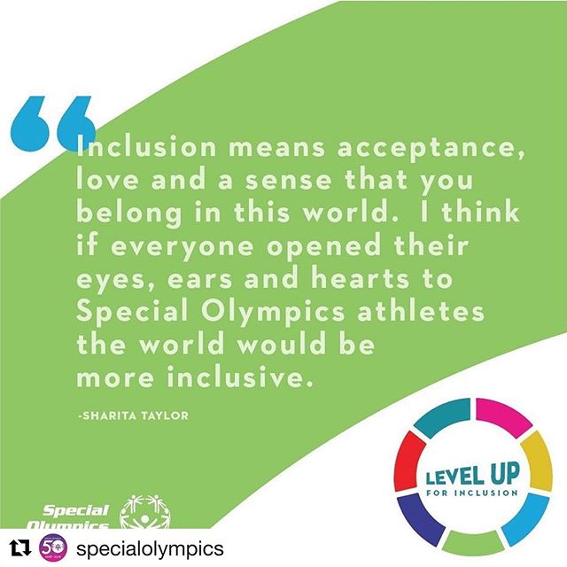 Join the #InclusionRevolution ・・・ #Repost @specialolympics  This is what Sharita dreams of when she pictures a world of inclusion. What are your dreams for an inclusive world?  Join our Level Up for Inclusion Challenge & share them with us! {link in bio} #InclusionRevolution