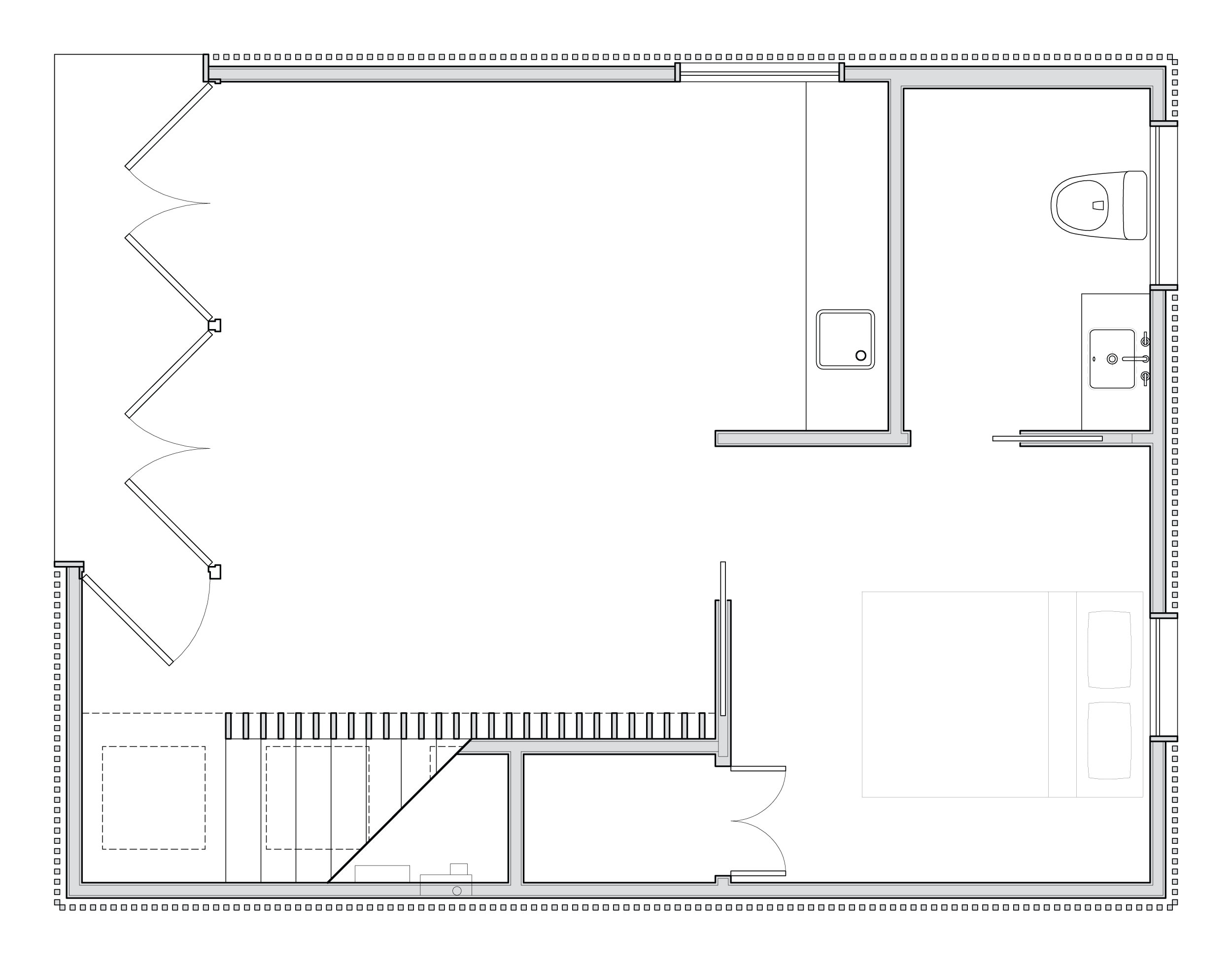 First floor plan of the living areas.