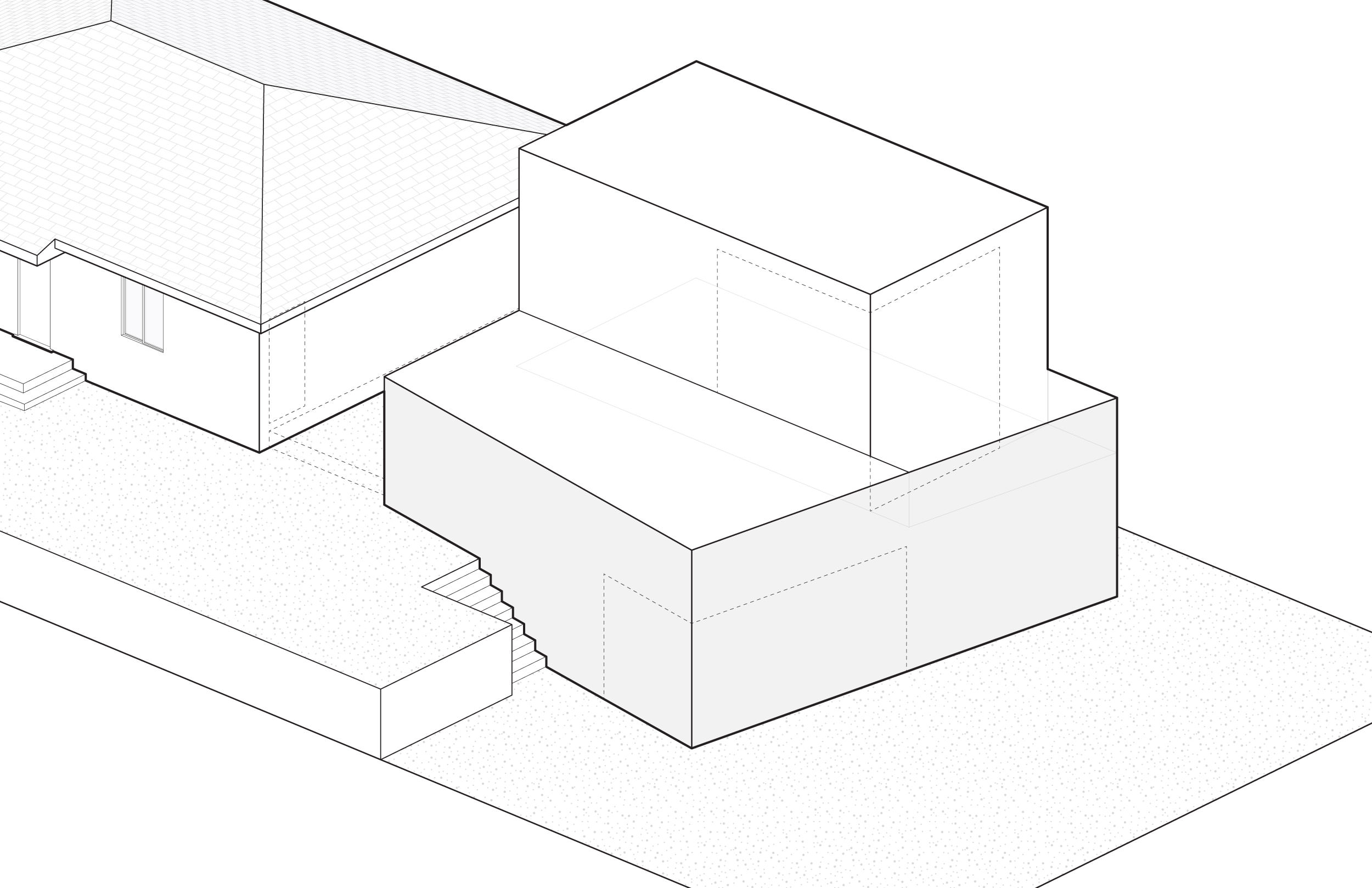 4. Rotate the addition's front to face the view and to create a second floor balcony.