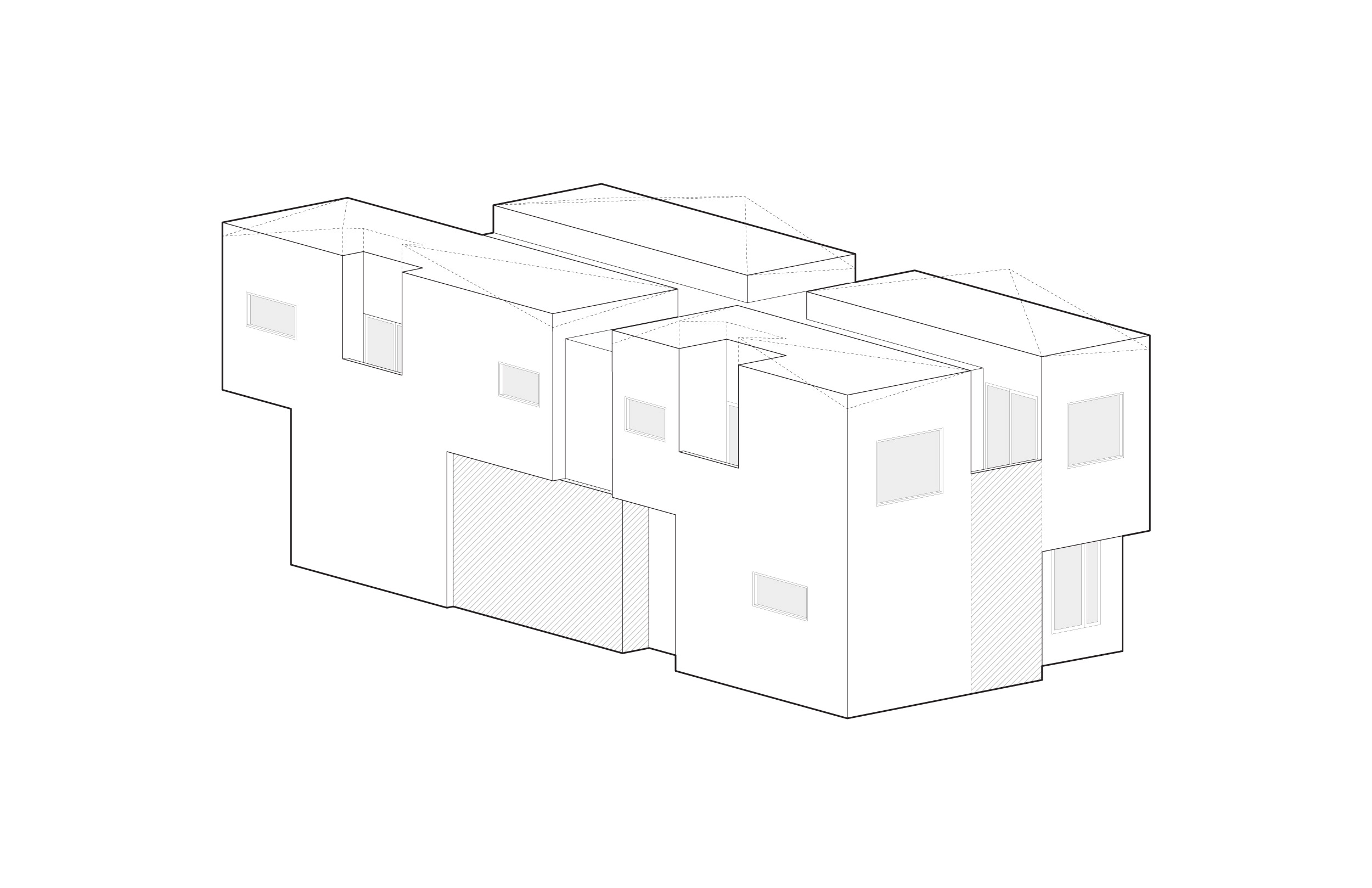 Walls were added to maximize the first-floor area.