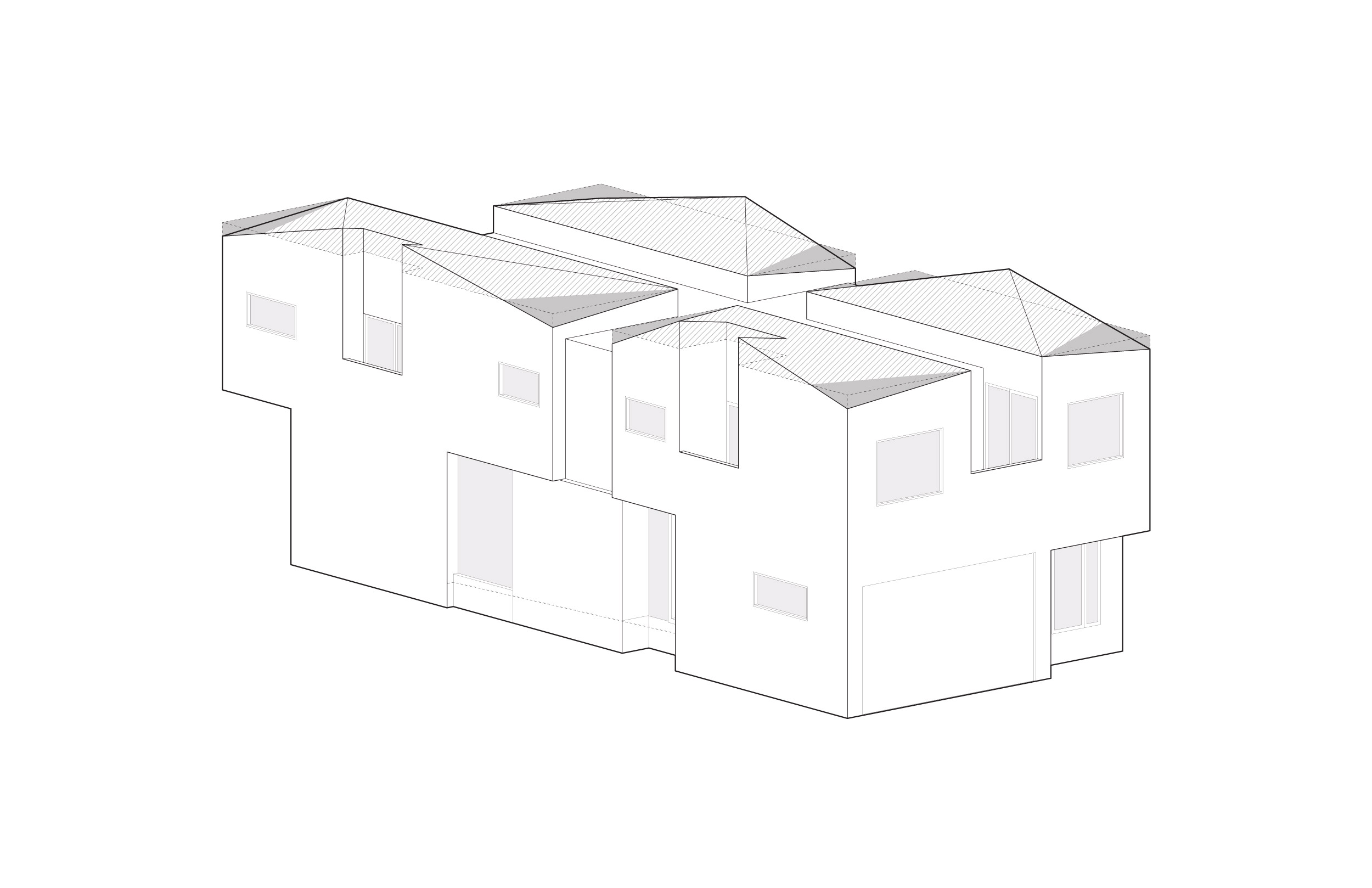 The roof was vaulted at each of the bedrooms to emphasize the ceiling height.