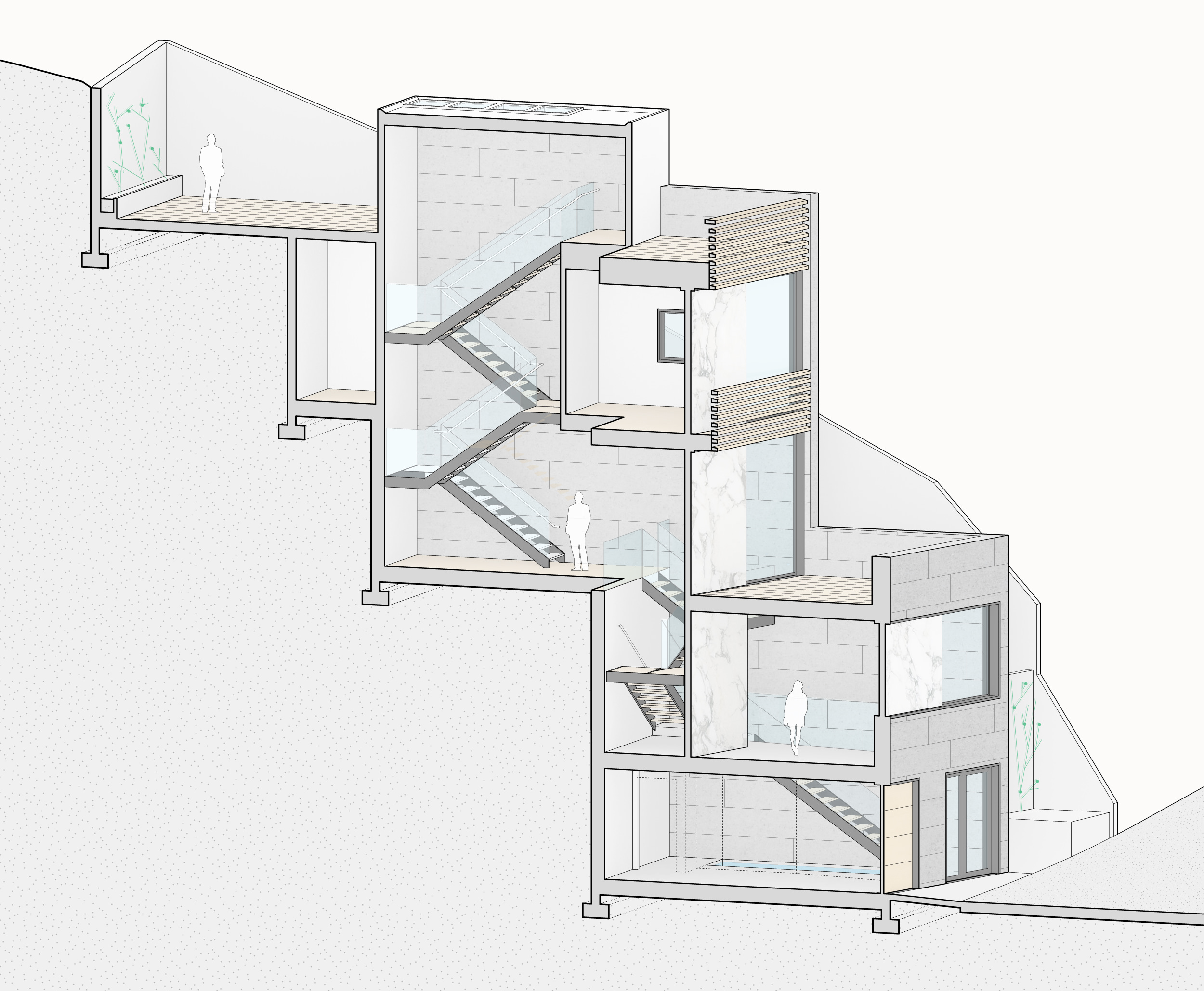 Isometric section.