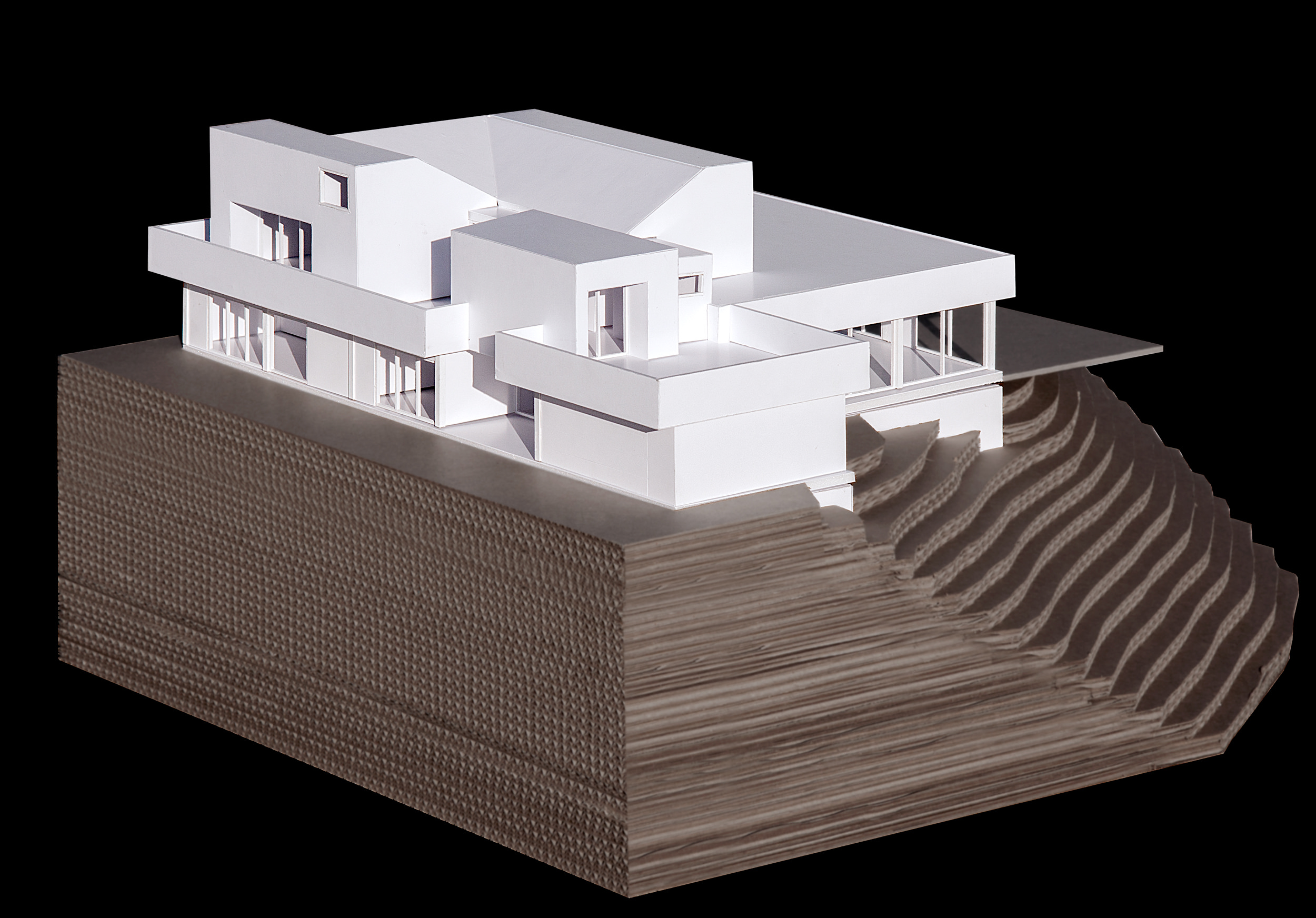 View of the model showing the facade facing the street.