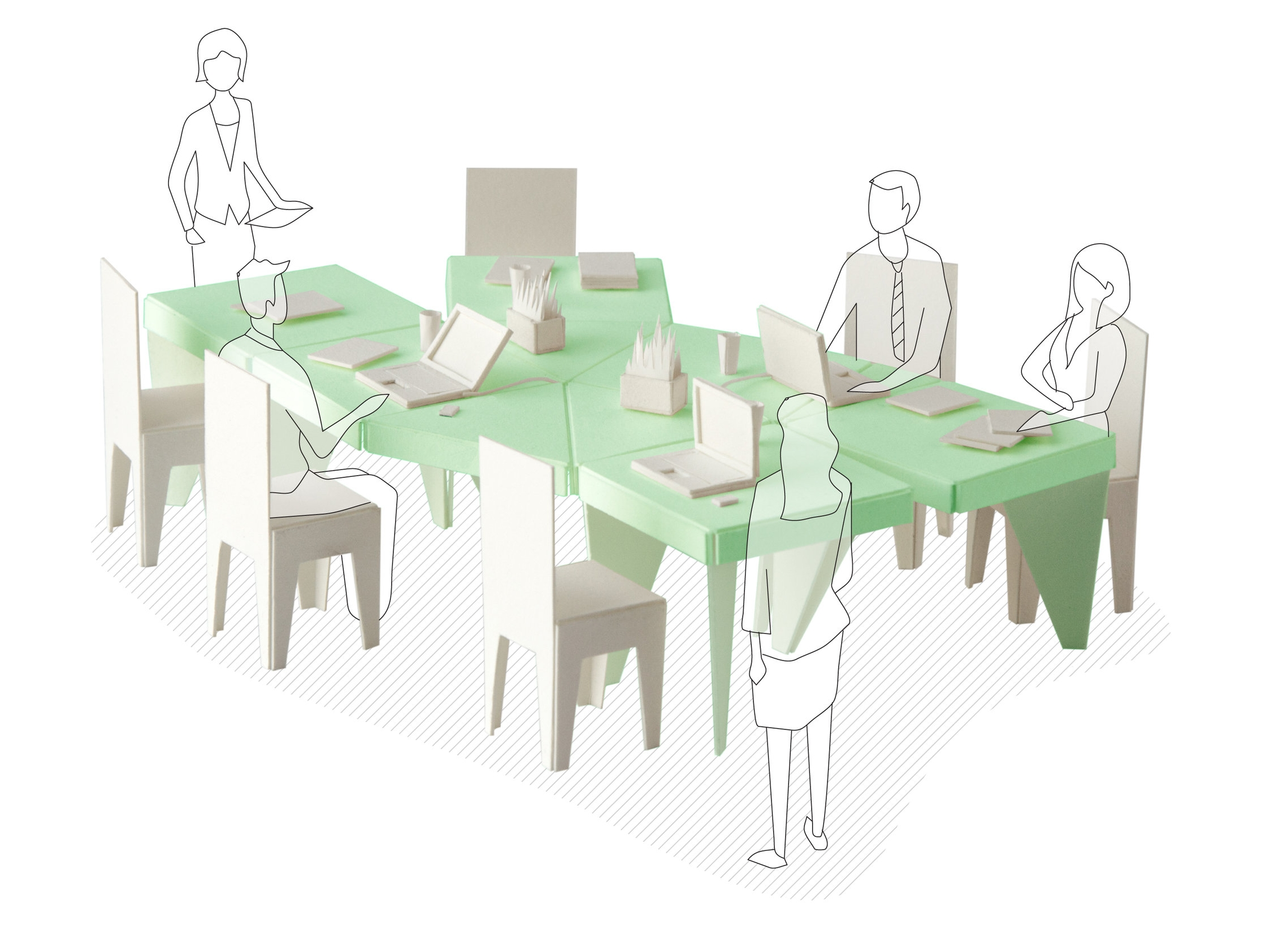 "The ""Open Ended"" table is perfect for conferences and collaboration."