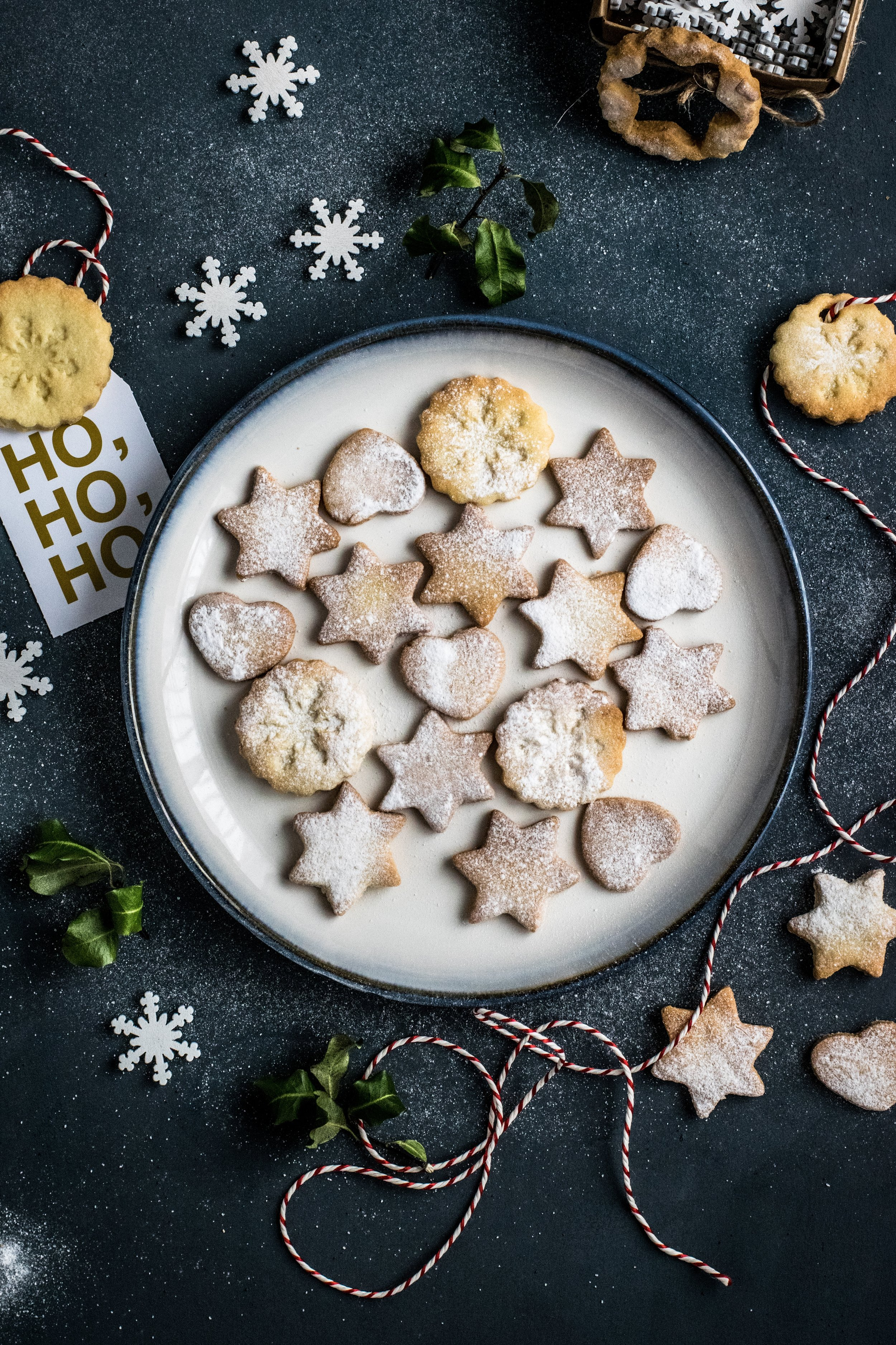 Holiday cookies, Christmas and Hannukah