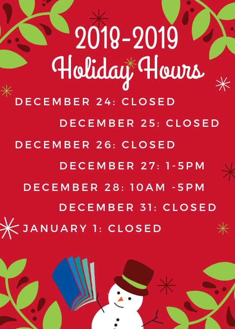 Holiday Hours, Centre Hall.jpg