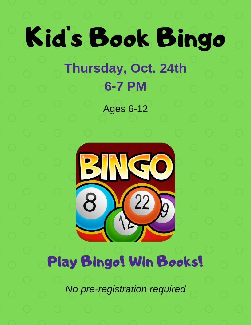 Kid's Book Bingo Holt Oct.jpg