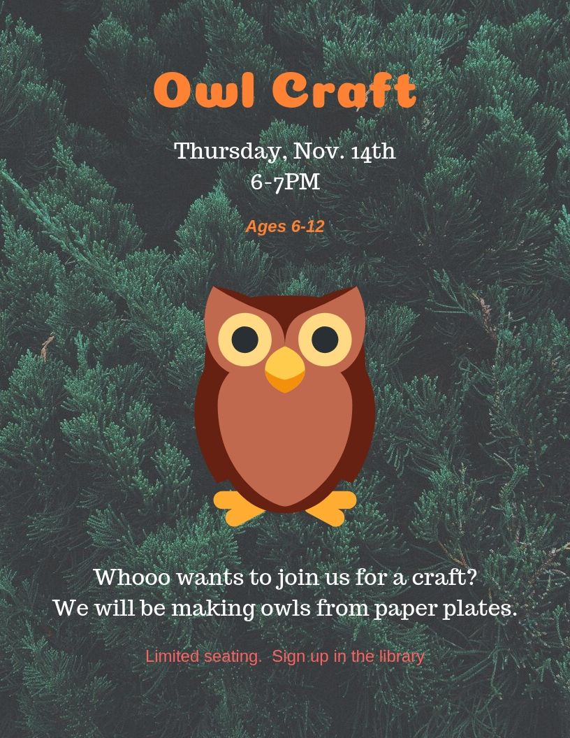 Owl Craft Holt Nov.jpg