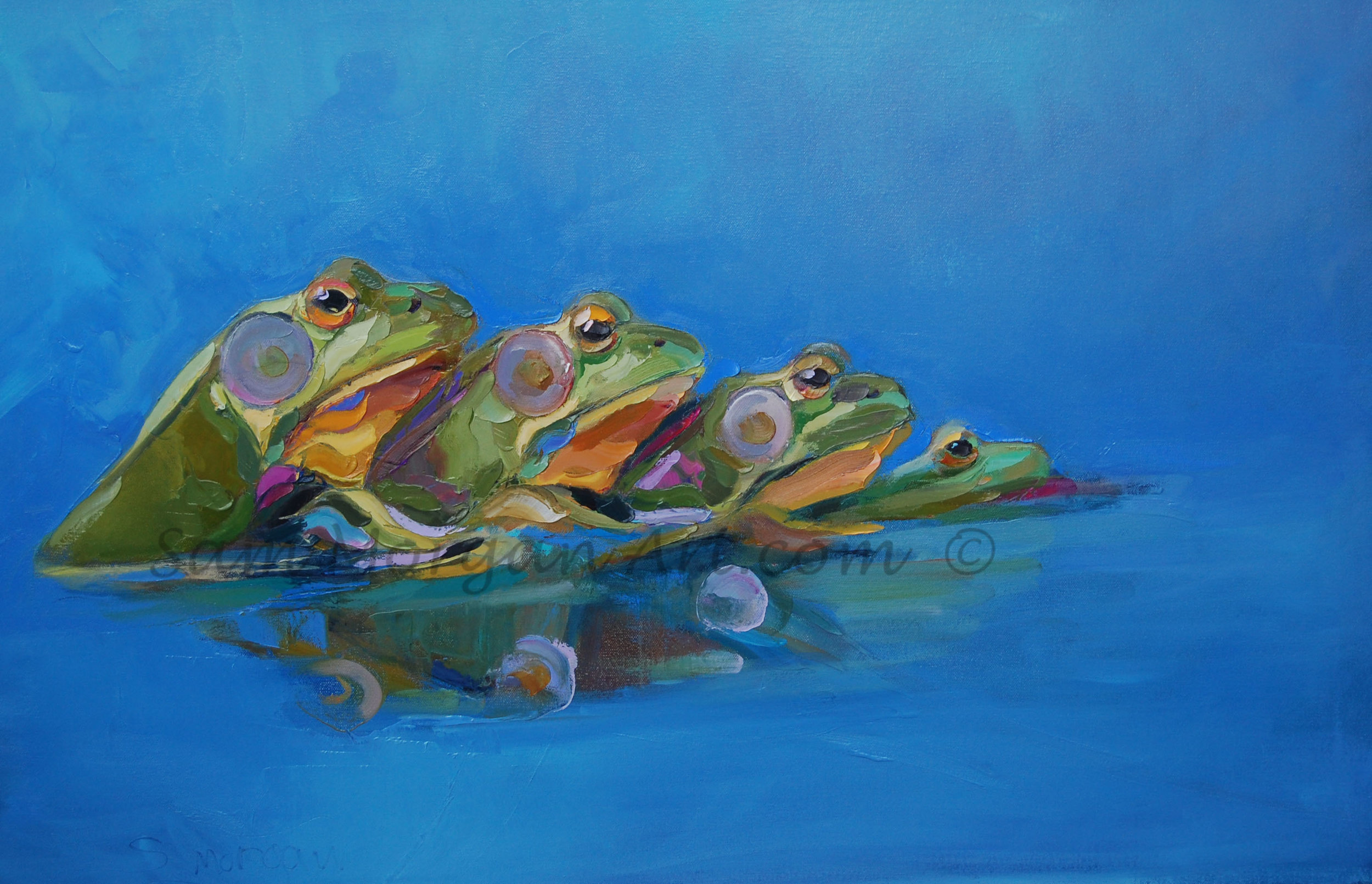 The FROGG Family   measures 24 x 36