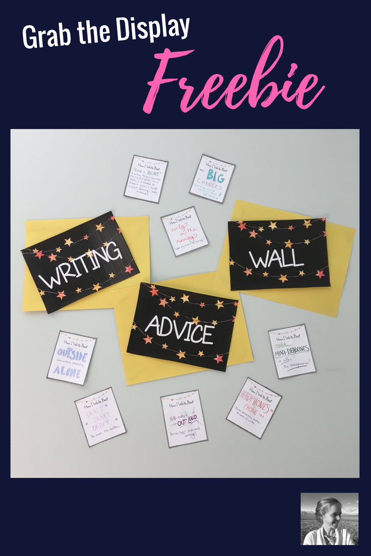 Let your student writers put their best advice on display with this fun freebie.